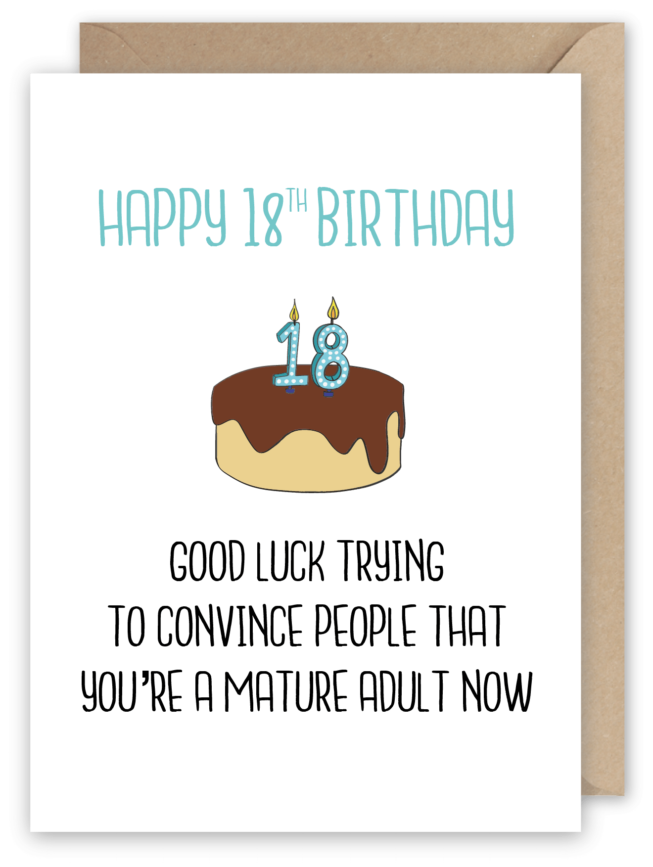 Good Luck Trying To Convince People 18th Birthday Greeting Card